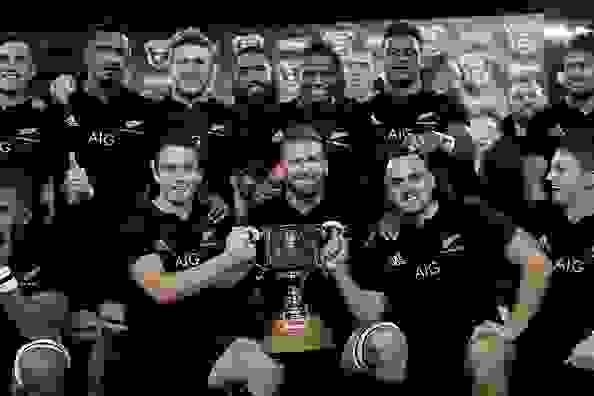 All Blacks side v Wales Third Test in Dunedin